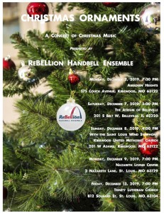 A 2019 Christmas Ornament Rebellion ornament flyer_all concert