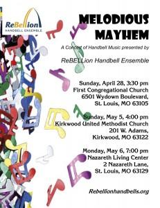Melodious Mayhem Poster logo top